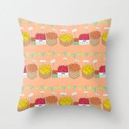 Farmer's Market Pattern Throw Pillow