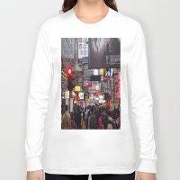 hong kong Long Sleeve T-shirts featuring Hong Kong  by ENGINEMAN - JOSEPHAMT