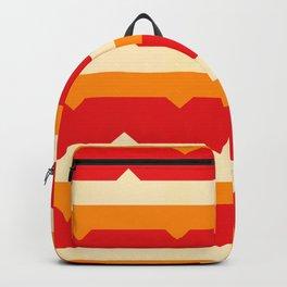 warm toned various stripes shapes minimalist geometric pattern Backpack