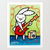 Bunny Rocker  Art Print