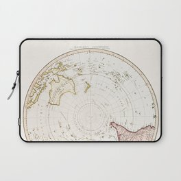 Southern Hemisphere - reproduction of William Faden's 1790 engraving Laptop Sleeve