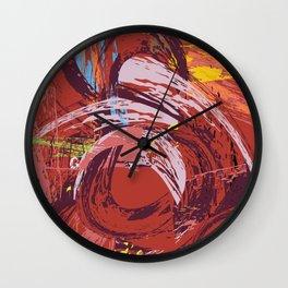Red Bang Wall Clock