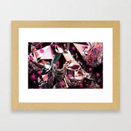 ROSE/GOLD/FISHES Framed Art Print