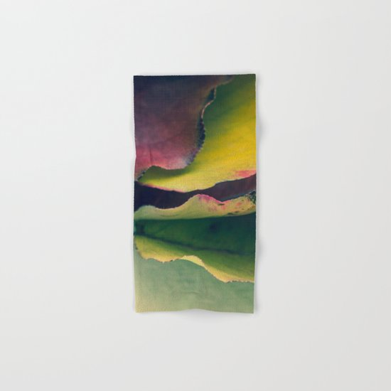 Fall Leaves II - Yellow, Lime Green, Red Purple Hand & Bath Towel
