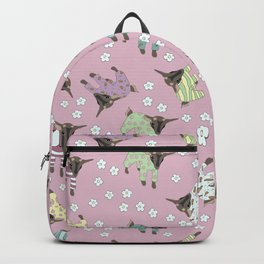 Pajama'd Baby Goats - Pink Backpack