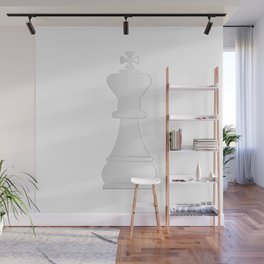 White king chess piece Wall Mural
