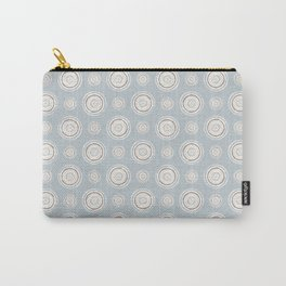 Painted Paint Can Circles Pattern Muted Blue Desert Pink Pastel Gray Carry-All Pouch