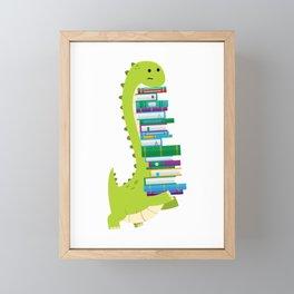 The Geek Brachiosaurus Framed Mini Art Print