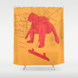 25 mph Fakie Flip Shower Curtain