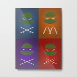 TMNT Minimalist Metal Print