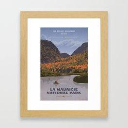 La Mauricie National Park Poster, Quebec Framed Art Print