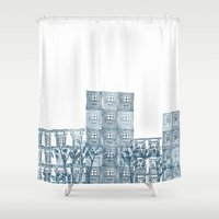 street art Shower Curtains featuring Street art by Willy Ollero