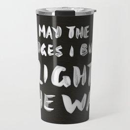 Burned Bridges – Black & White Travel Mug
