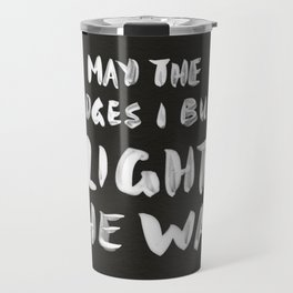 Burned Bridges – Black & White Travel Mug