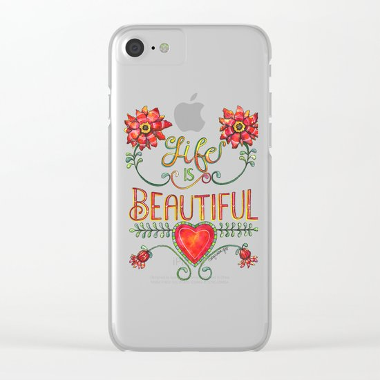 Life is Beautiful 2 Clear iPhone Case