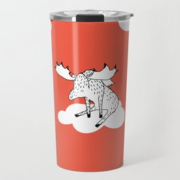 Flying Moose by Amanda Jones Travel Mug