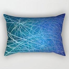 Cyan Linear Explosion Rectangular Pillow