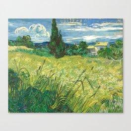 Green Field by Vincent van Gogh Canvas Print