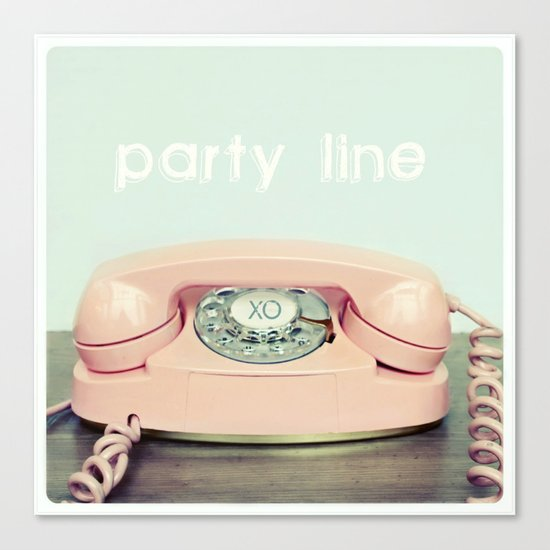 Party Line Canvas Print