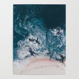 I love the sea - written on the beach Poster