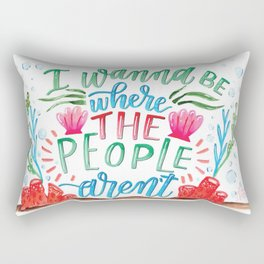 I Don't Like People Rectangular Pillow
