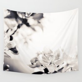 Black and White Flowers 2 Wall Tapestry