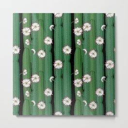 Cacti Cereus with flowers Metal Print