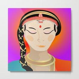 Tamil Indian Dancer (close up) Metal Print