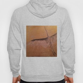 Wood Crane gold sky painting on wood Hoody