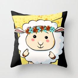 Schaf Throw Pillow