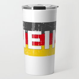 German No Funny Germany Oktoberfest  Travel Mug