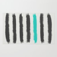 the strokes Area & Throw Rugs featuring Paint Strokes  by Zeke Tucker