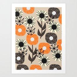 Some happy flowers Art Print