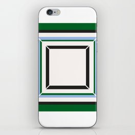Green Blue And White Tile iPhone Skin