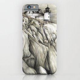 Bass Harbor Head Lighthouse iPhone Case