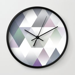 Silver Triangels N.2 Wall Clock