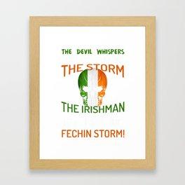 Irish Storm Irish American Flag design Framed Art Print
