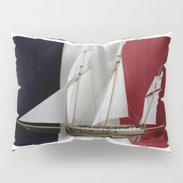 Le Coureur, french flag Pillow Sham
