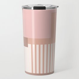 Sol Abstract Geometric Print in Pink Travel Mug