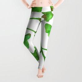 Ginkgo Leaves Watercolor Leggings