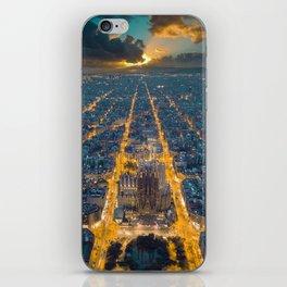Sunset in Barcelona iPhone Skin