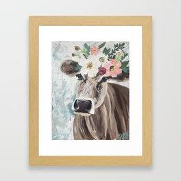 Jolene Spring Cow Framed Art Print