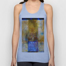 Golden yantra Unisex Tank Top