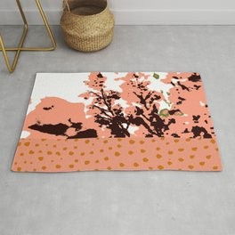 Dots and flowers Rug