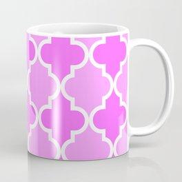 Quatrefoil - dark pink dual Coffee Mug