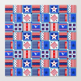4th July Patchwork Canvas Print