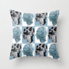 Men's collage Throw Pillow