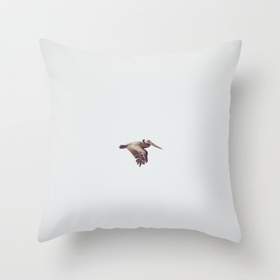 Solo Flight Throw Pillow