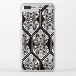 Skull & Moth Tesselation Clear iPhone Case
