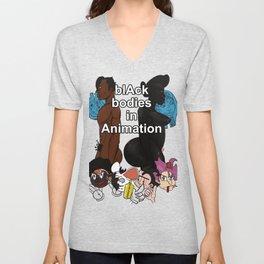 Black Bodies in Animation by: Matthew J Powell Unisex V-Neck
